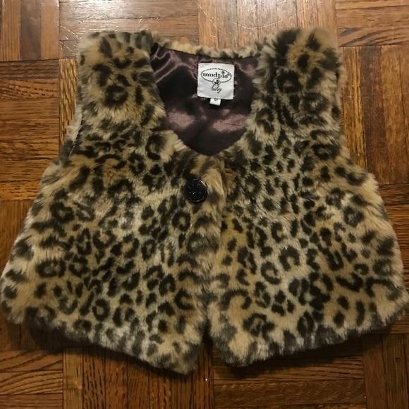 Mud Pie Other - Mud Pie leopard print vest